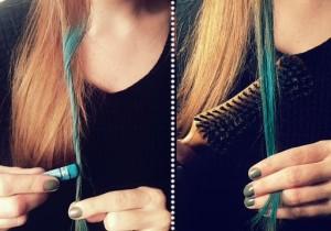Jolie coloration cheveux éphémère