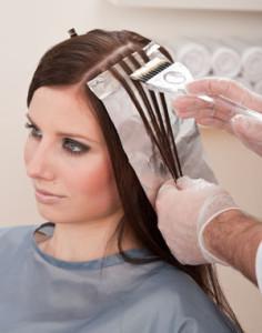 Exemple coloration cheveux coiffeur
