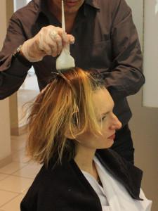 Modèle coloration cheveux coiffeur