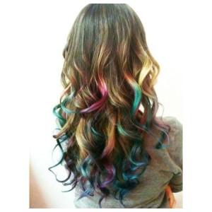 Idée coloration cheveux craie