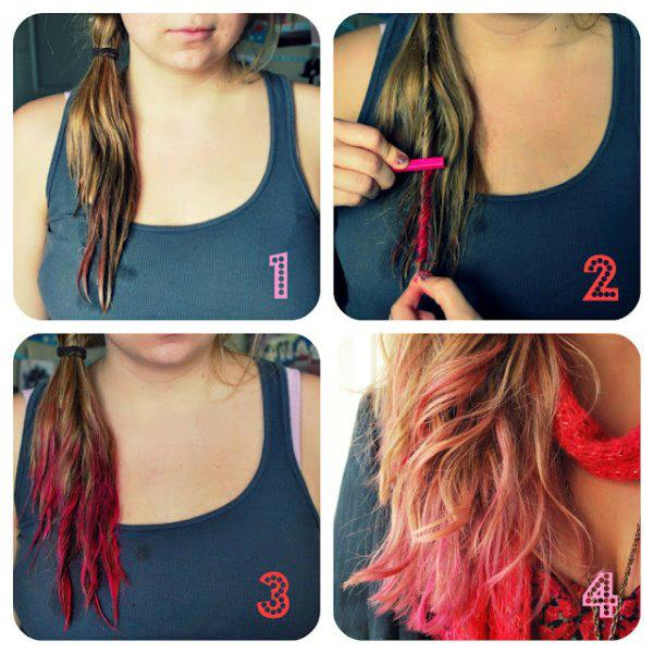 coloration cheveux craie