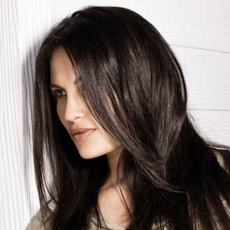 Couleur de cheveux brune fonce