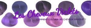 Belle coloration cheveux lavande pour femme