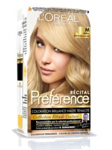 Exemple coloration cheveux loreal