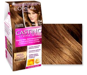 Exemple coloration cheveux miel