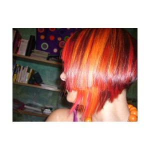 Exemple coloration cheveux orange