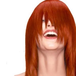 Jolie coloration cheveux orange