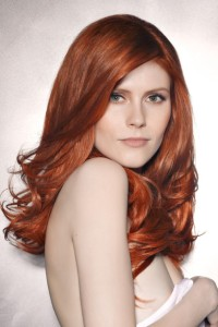 Jolie coloration cheveux roux
