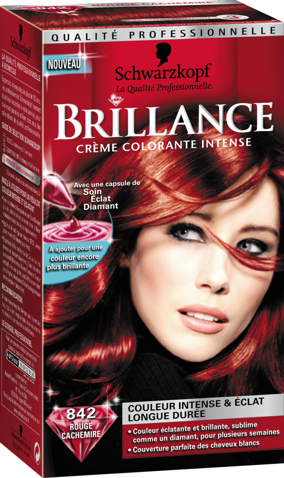 Coloration cheveux ultra brillante