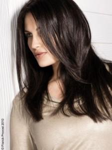 Modèle coloration cheveux un brun glossy