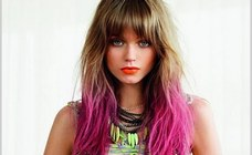 Exemple couleur cheveux flashy