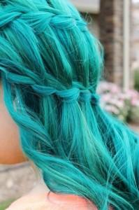 Jolie couleur cheveux flashy