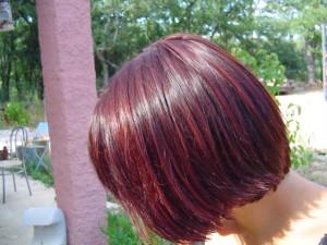 Jolie couleur cheveux henné