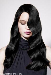Exemple couleur cheveux noir - Couleur noir bleute ...