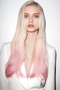 Exemple couleur cheveux rose pastel