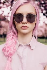 Belle couleur cheveux rose pastel pour femme
