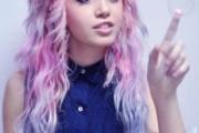 couleur cheveux rose pastel