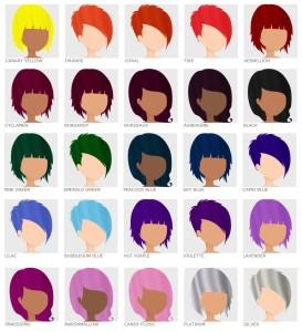 Mode pour femme : couleur cheveux semi permanente