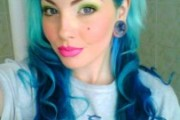 coloration cheveux bleu pastel