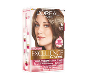 Exemple coloration cheveux excellence loréal