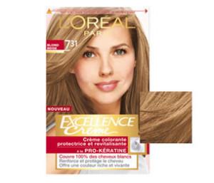 Modèle coloration cheveux excellence loréal