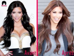 Modèle coloration cheveux kim kardashian