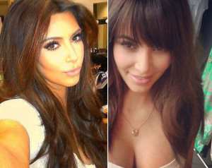 Quelle coloration cheveux kim kardashian