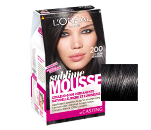 coloration cheveux mousse