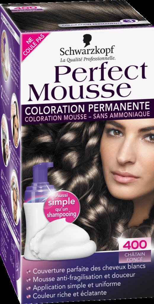 coloration cheveux mousse