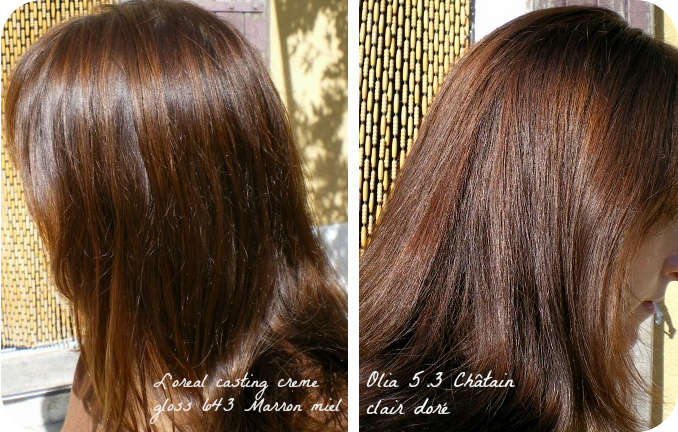 Id e coloration cheveux olia - Chatain fonce dore ...