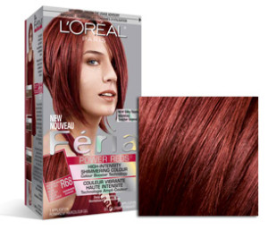 Exemple coloration cheveux rouge acajou
