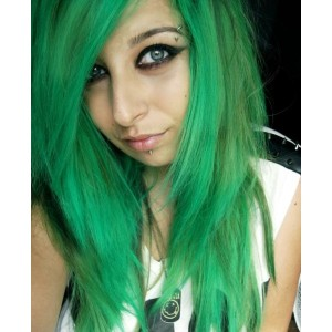 Exemple coloration cheveux vert