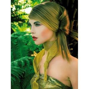 Jolie coloration cheveux vert