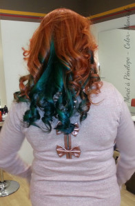 Exemple coloration cheveux vert alpin