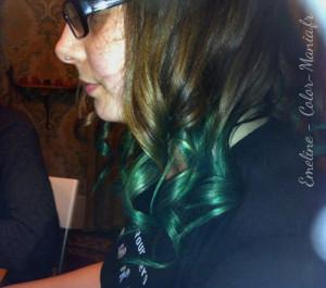 Idée coloration cheveux vert alpin