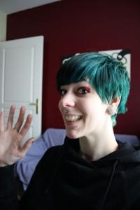 Tendance : coloration cheveux vert alpin