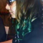 coloration cheveux vert emeraude