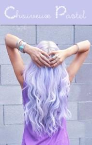 Modèle coloration cheveux violet pastel