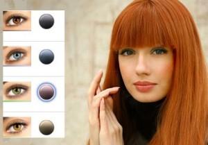 Inspiration coloration cheveux yeux vert