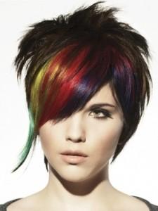 Modèle couleur cheveux courts