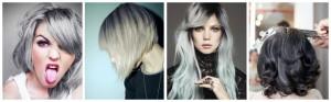 Belle couleur cheveux gris pour femme