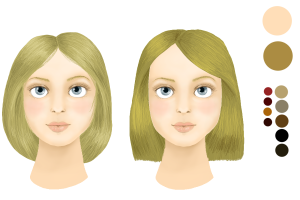 Inspiration couleur cheveux yeux bleus peau claire