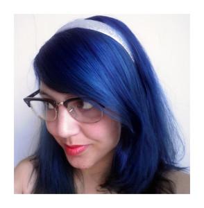 Exemple coloration cheveux bleu