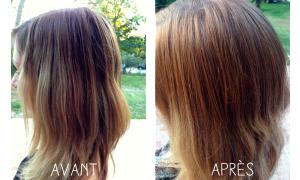 Jolie coloration cheveux eclaircissante