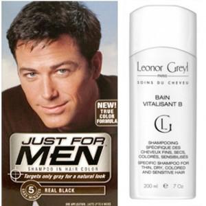 Mode pour femme : coloration cheveux homme noir