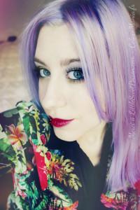 Modèle coloration cheveux lilas
