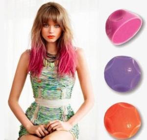 Modèle coloration cheveux temporaire rose