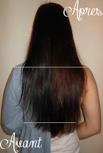 Exemple coloration cheveux une semaine