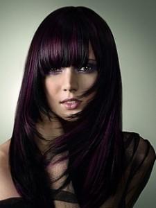 Idée coloration cheveux violet