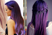 coloration cheveux violet